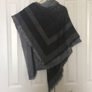 Accessories - Black and Gray Blanket Scarf